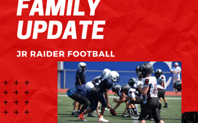 Jr Raider Family Update – May 20th
